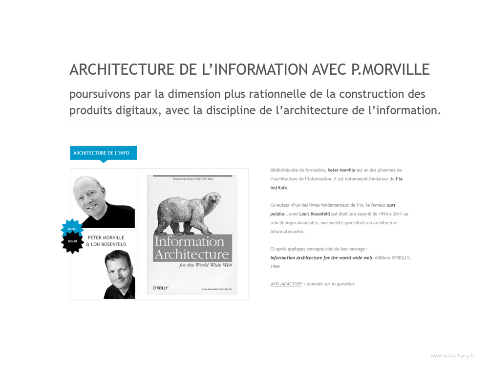 architecture de l'information et benchmark editorial