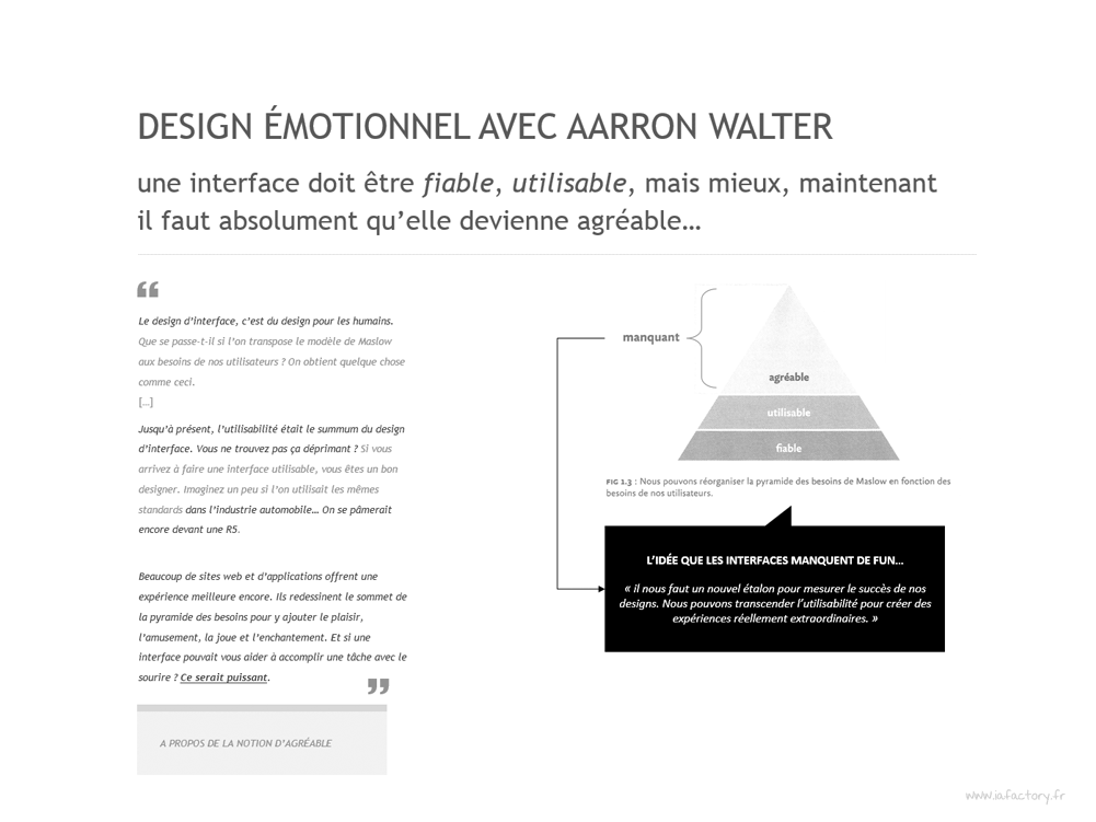 design émotionnel Aaron Walter