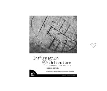 couverture livre information architecture blueprints for th web christina wodtke austin govella
