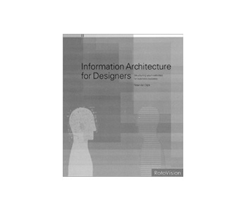 couverture livre information architecture for designer Peter van dijck