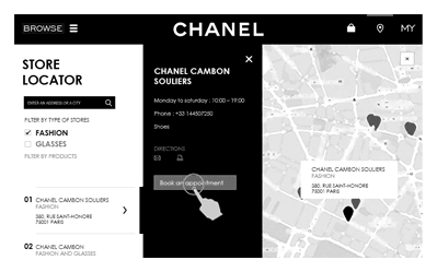 illustration projet UX Chanel