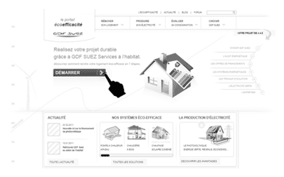 illustration projet UX Gdf Suez home performance