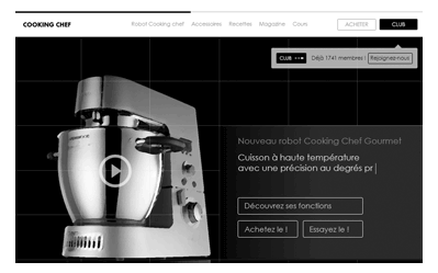illustration projet UX Kenwood Cooking chef