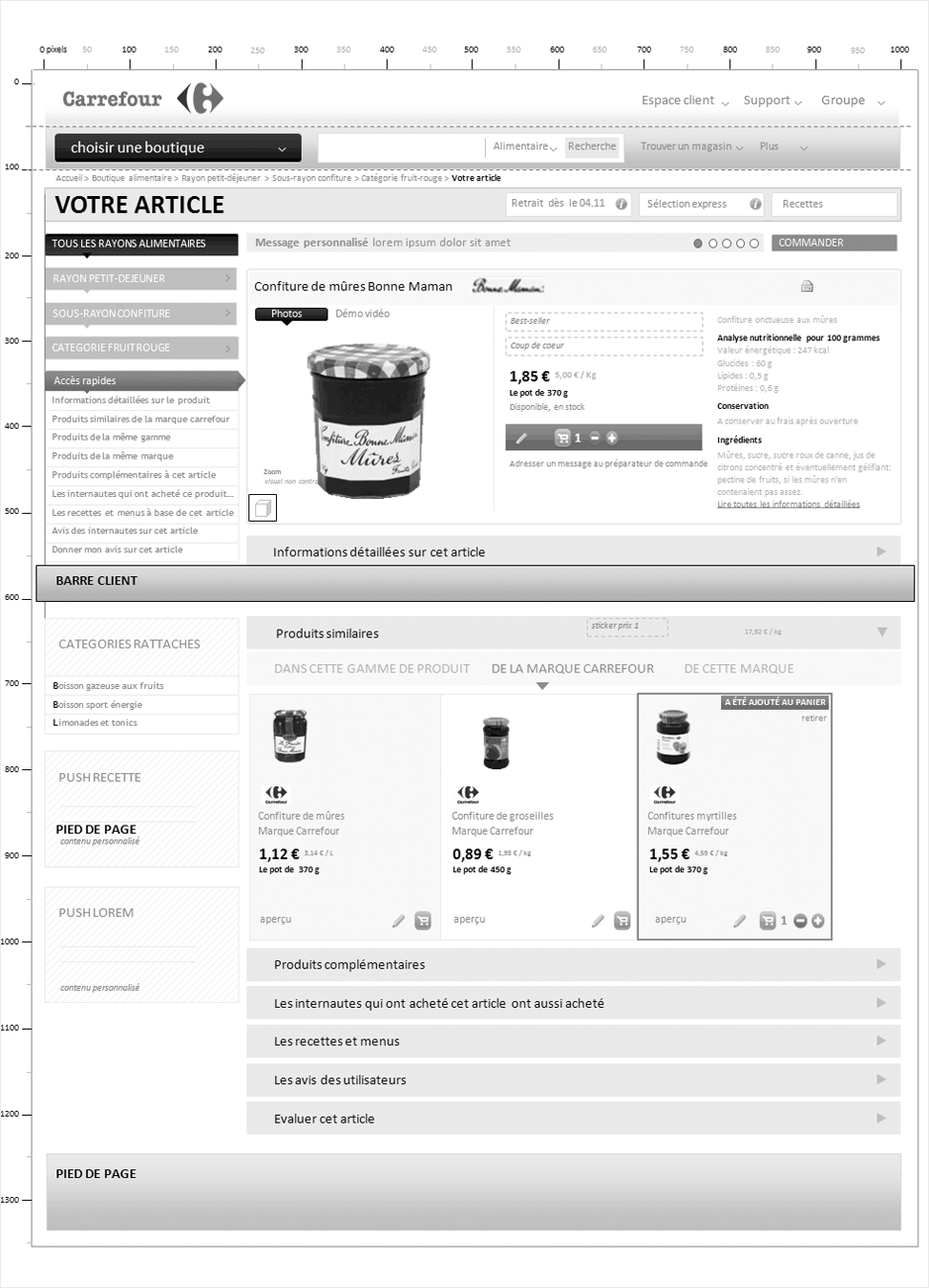 wireframe carrefour-ooshop