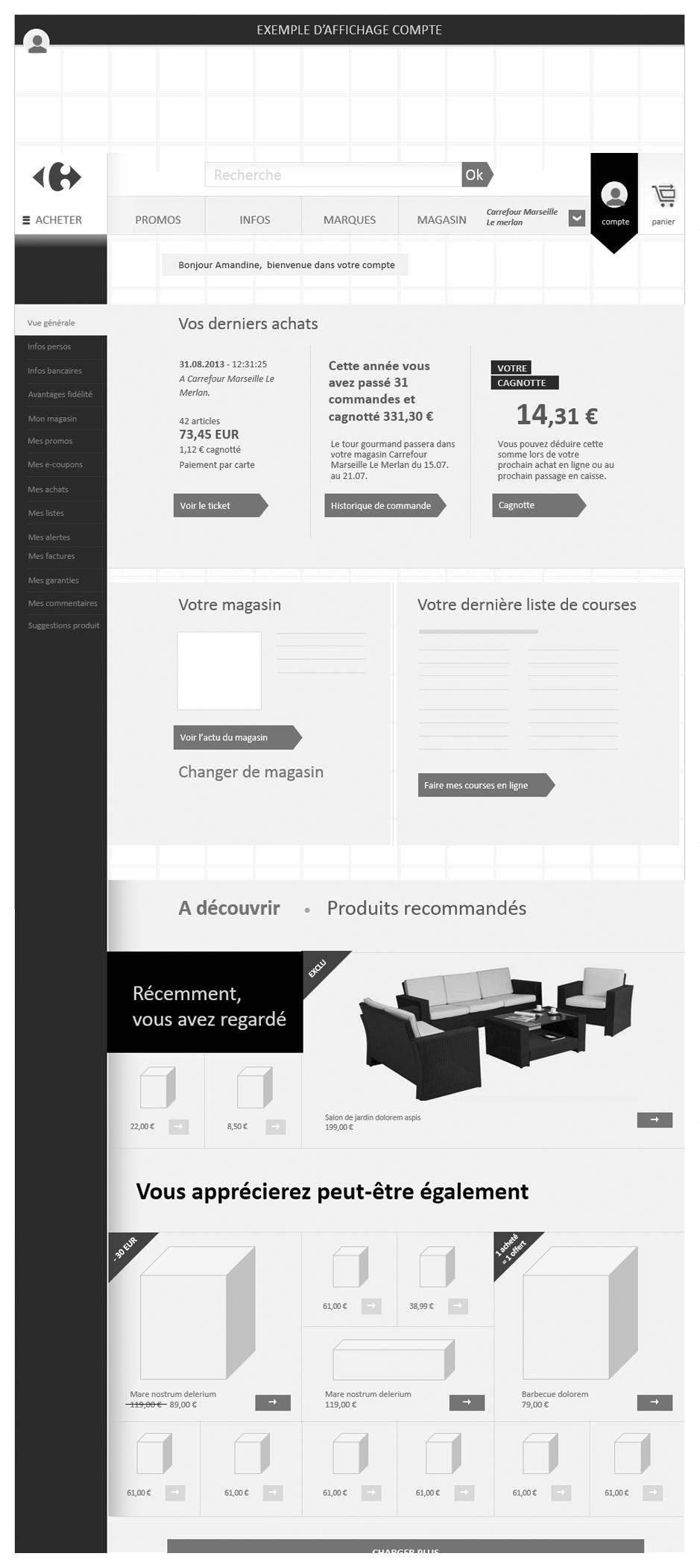 wireframe carrefour-prospective