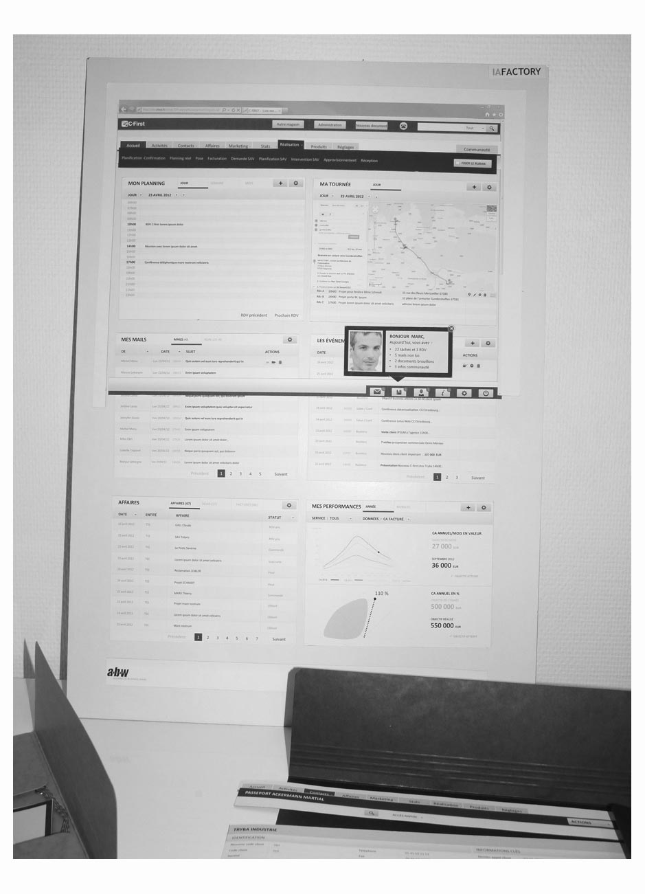 wireframe cfirst-crm