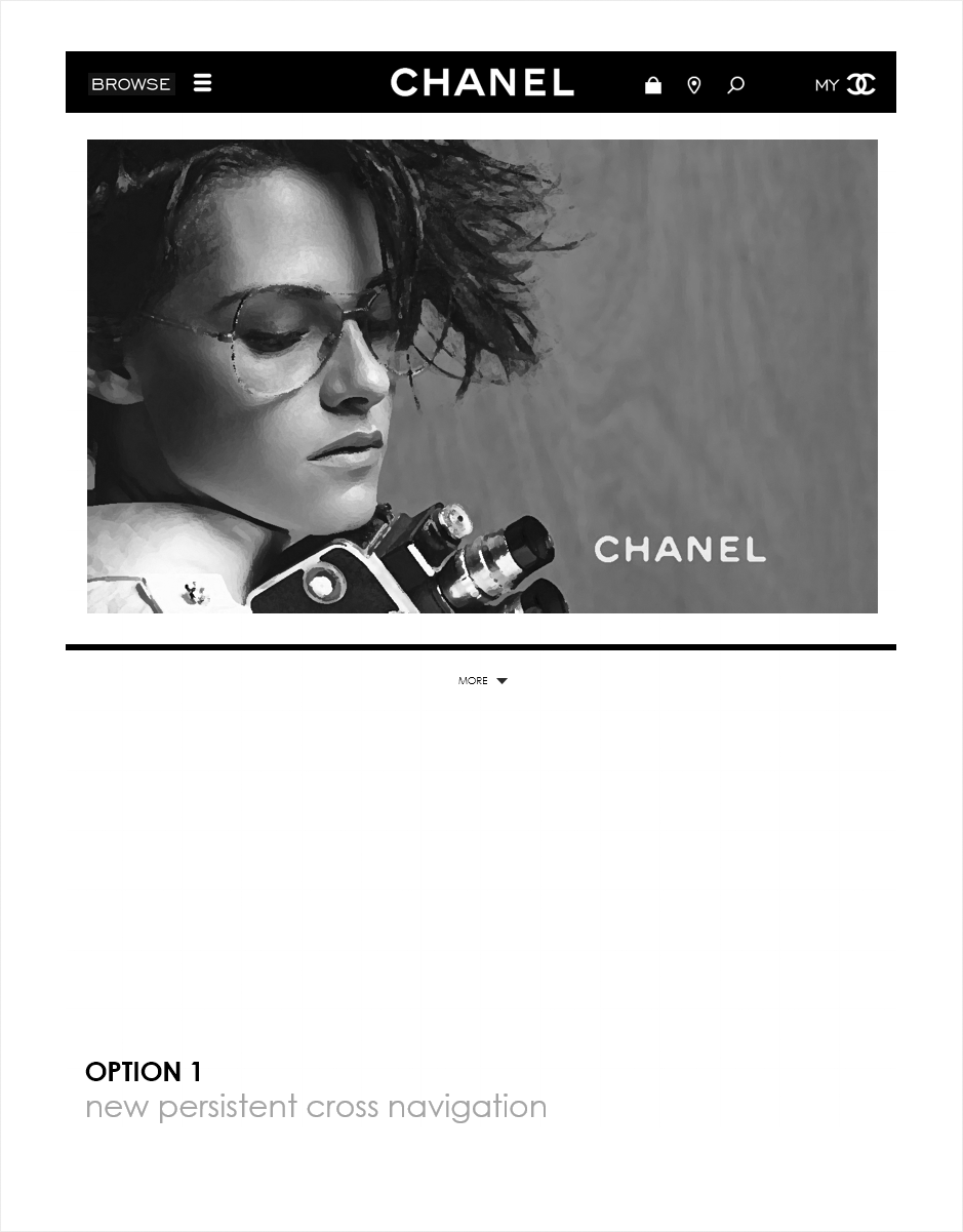 principes, wireframe espace client CHANEL