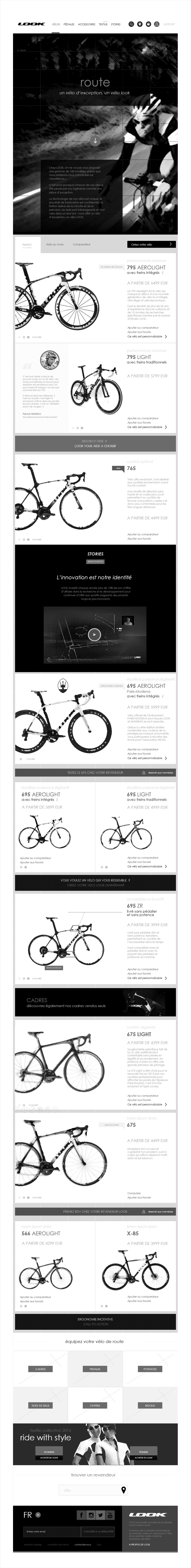 univers vélo de route, wireframe look cycle