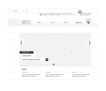 vignette modèles wireframes site editorial corporate