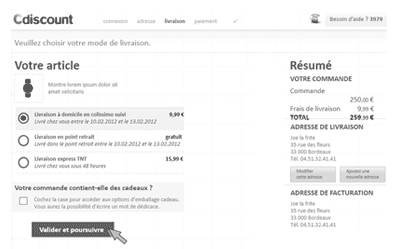 illustration projet UX Cdiscount