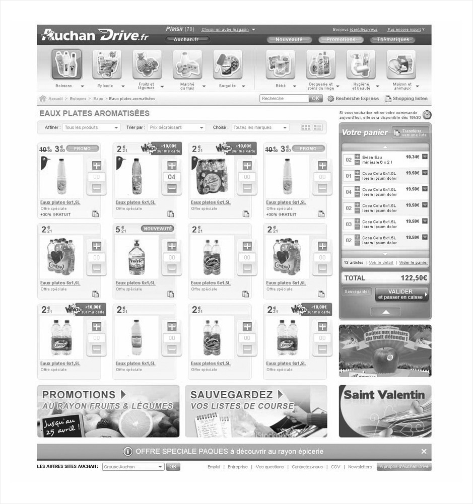 wireframe auchan-drive