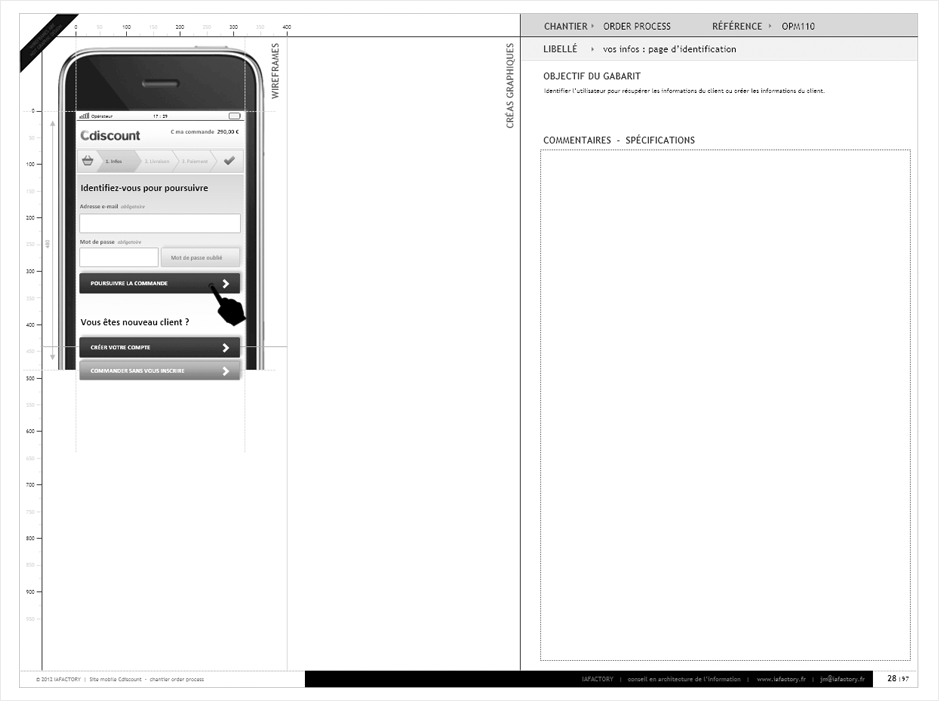 wireframe cdiscount-checkout-smartphone